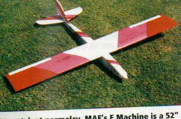 E-machine , electric RC or slope glider, for brushless electric or 600 size brushed motors such as Graupner speed 600 fully laser cut balsa kit from Miniature aircraft factory FMK Models UK