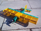 Wizzbit RC model plane for Cox 049 engines easy to build rc model kits UK Liverpool FMK Models